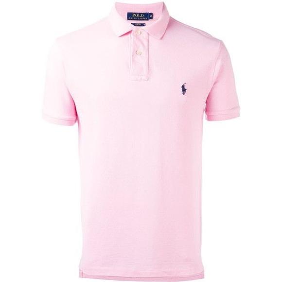f9ec3d3c Pink Polo shirt with a light blue logo. M_5a9f5c5a46aa7cdcdd0d43c4. Other  Shirts you may like. Ralph Lauren ...